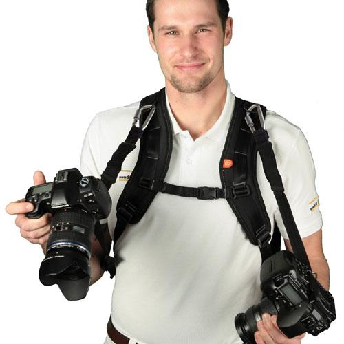 【ロタボールバックパックストラップ】バッグパックにそのままカメラを接続可能!