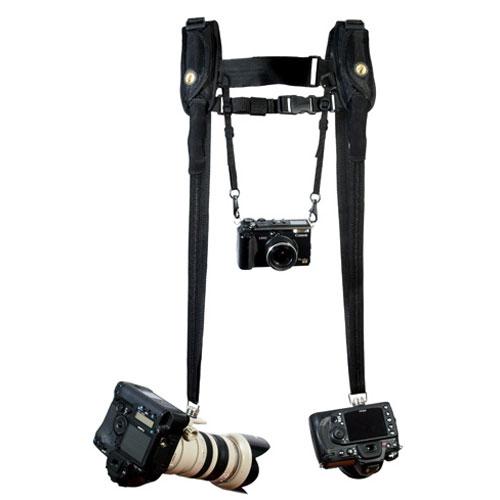 <ダブル>一眼レフカメラ複数台用カメラストラップ